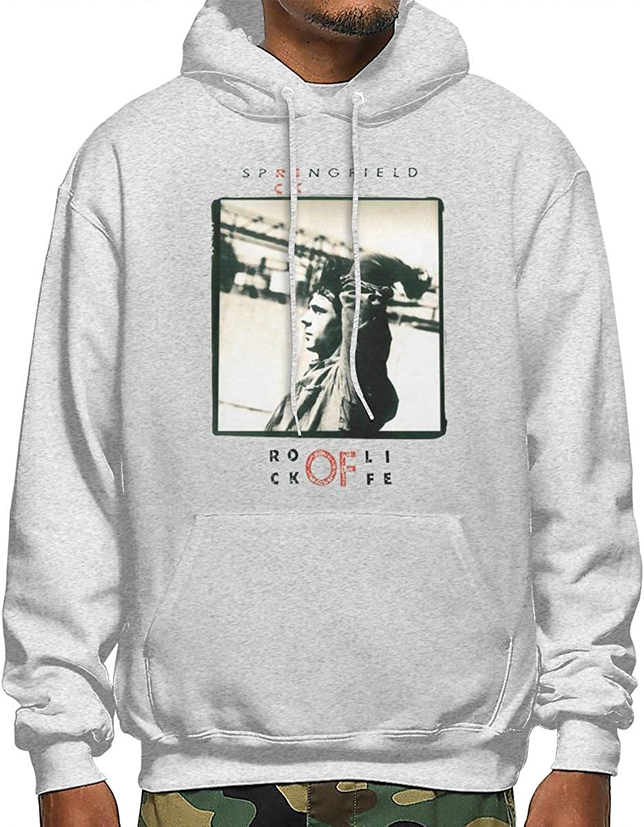 Rick Springfield Rock of Life Mens Pullover,Casual Long Sleeve Outwear