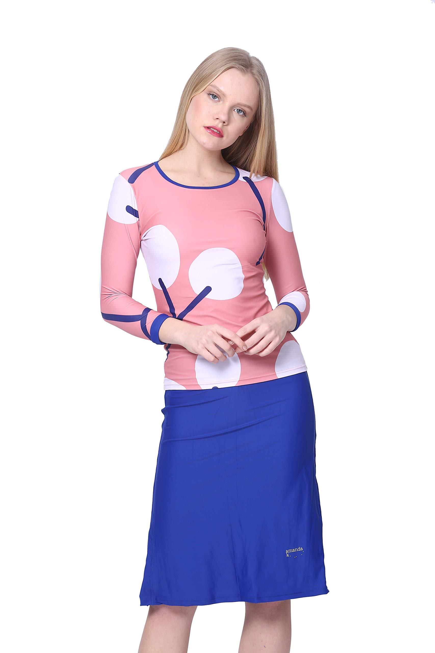 Amanda K Modest Swimwear for Women Long Sleeves Shirt & Skirt w/Leggings (S) by Amanda K