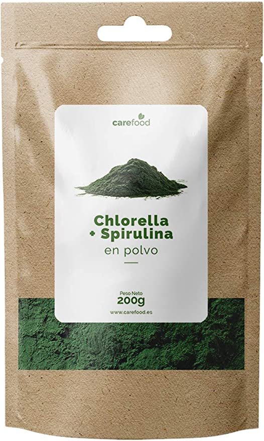 carefood Chlorella + Spirulina en polvo orgánica - 125 G ...