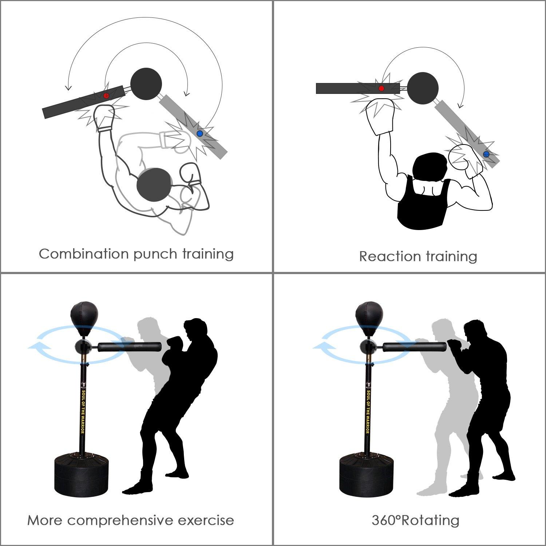 InnoLife MMA Boxen Speed Trainer Boxsack Spinning Bar