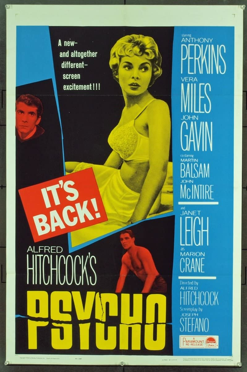 Psycho (1960) Original 1965 Re-Release One Sheet Poster (27x41) at ...