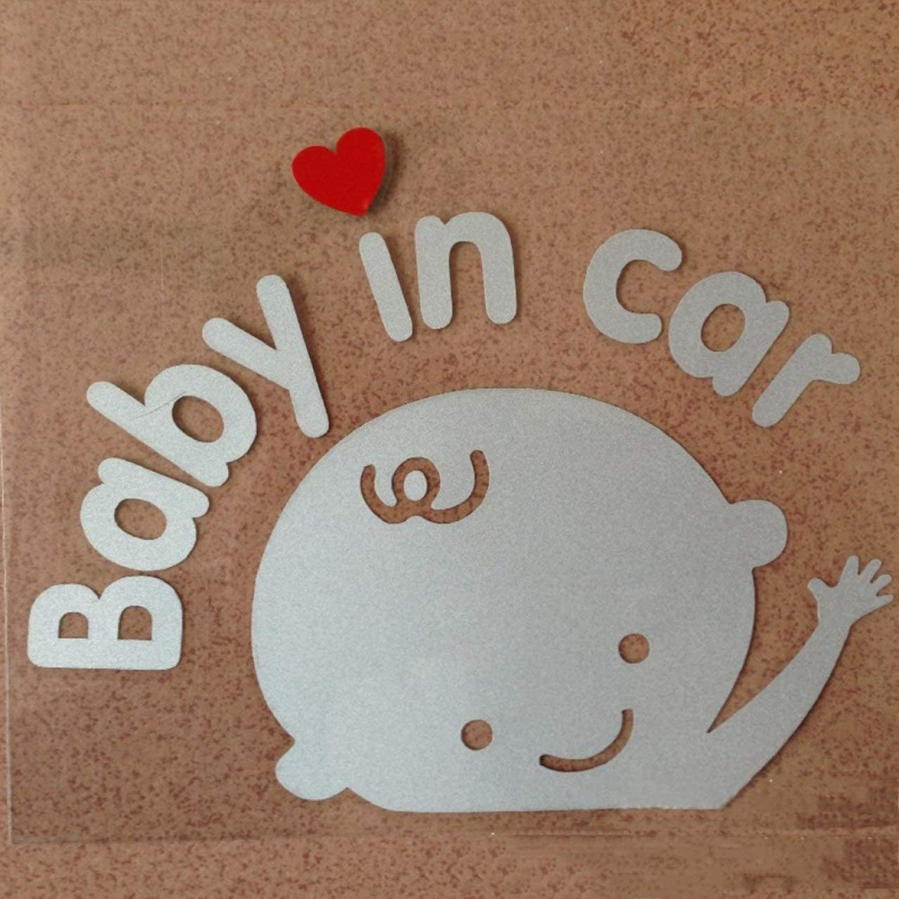 jlfhyg Beneficial Baby in Car Waving Baby on Board Safety Sign Cute Car Decal//Vinyl Sticker None Picture Color
