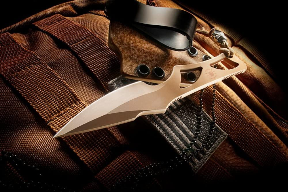 Spartan Enyo Fixed Blade Fighting Neck Knife Kydex Sheath