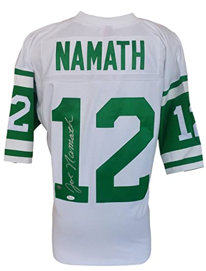 Image Unavailable. Image not available for. Color  Joe Namath Signed New  York Jets Mitchell Ness White Football Jersey JSA eb56d31f4