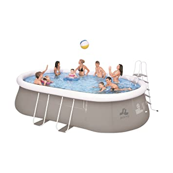 Jilong Chinook Quick Up Swimming Pool Set 540x304x106 Cm Mit Oval Pool  Becken Pumpe
