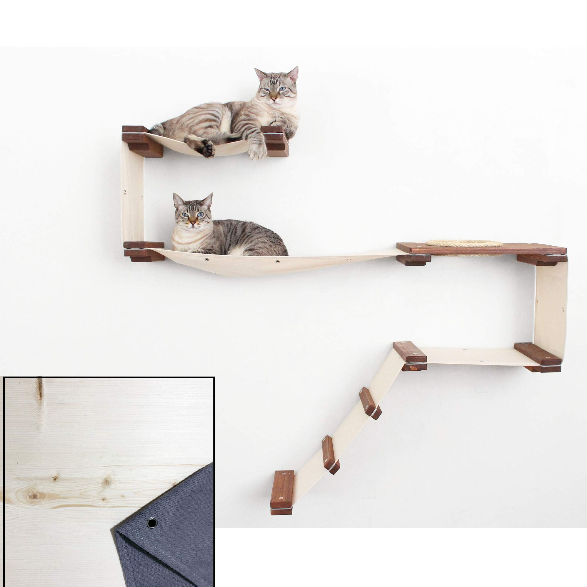CatastrophiCreations Cat Mod Play Handcrafted Wall-Mounted Activity Cat Tree Shelves