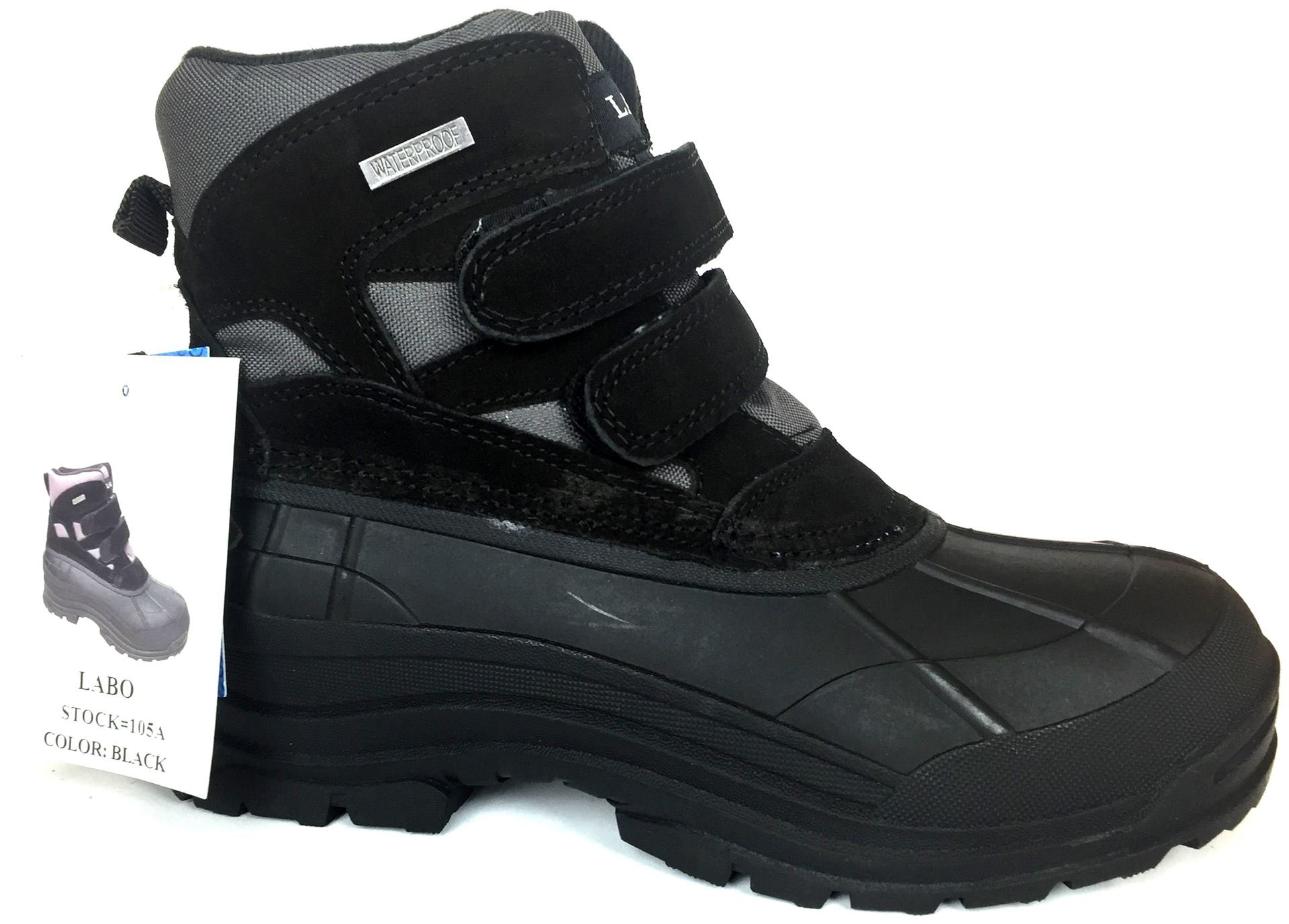 6'' Duck Snow Boot Black Color Size 105A- 11.5
