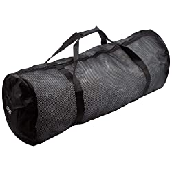 Heavy-Duty Mesh Duffle Bag. Great for Sports Equipment, Scuba Diving, Snorkeling, Swimming and More