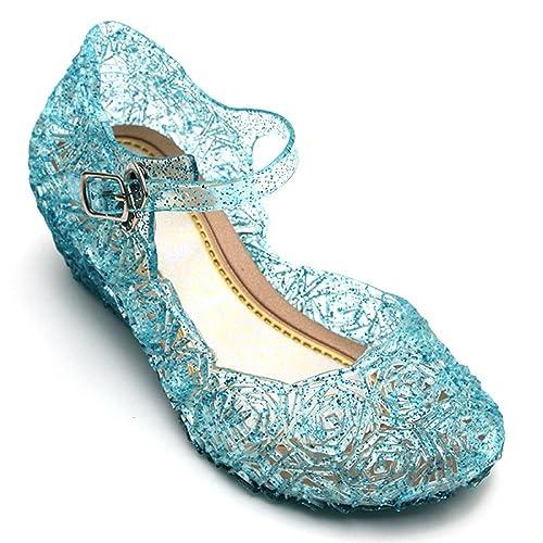 Scarpe Di Elsa Frozen Costume.Scarpette Shoe Bambina Carnevale Accessori  30-35 (31 c105068690f