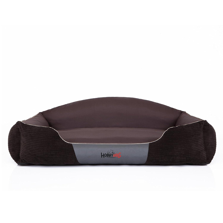 HOBBYDOG KRLSZT1 real Hundebett el descanso de perros de colchón para perros y funda de almohada de perros de mate de sueño de espacio (3 tamaños diferentes), marrón, L (65 x 50 cm)