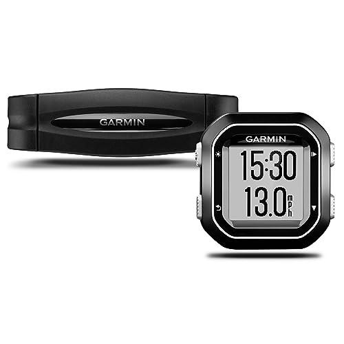 Garmin Edge 25 HRM Bundle GPS Bike Compatto e Impermeabile, Compatibile con Sensori Ant+ Bundle con Fascia Cardio, Nero