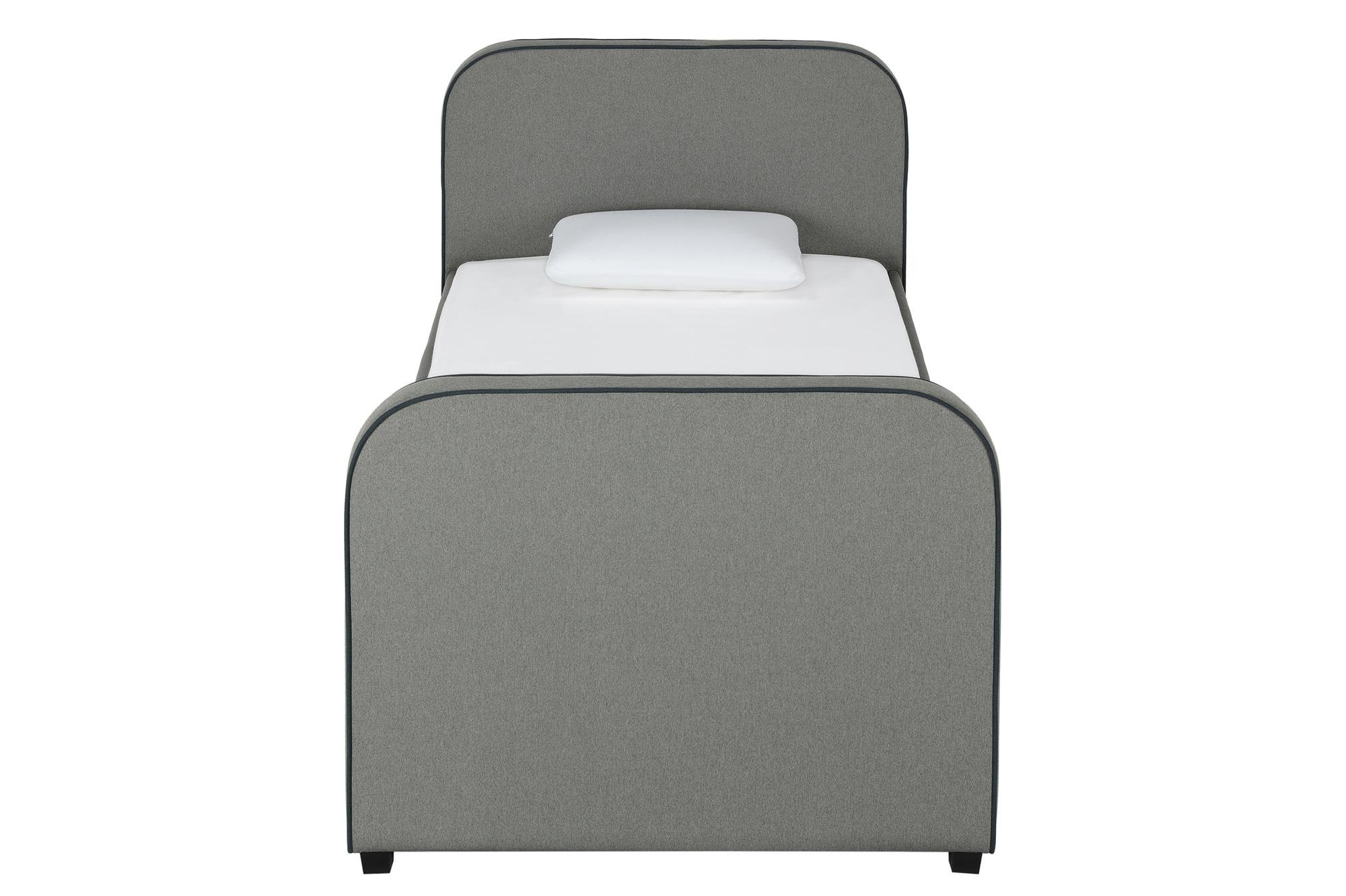 DHP Jesse Twin Kids Bed with Trundle in Gray Linen by DHP (Image #14)