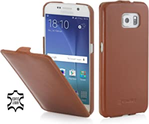 StilGut UltraSlim Case, Custodia in Pelle per Samsung Galaxy S6