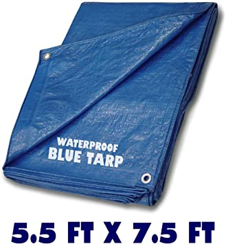 6 x 8 Tarp for Tent Camping Waterproof Aluminum Grommets Every 3 feet Mildew//Rot Resistant Bike Backpacking Rocky Mountain Goods Light Duty Tarp 3.5 mil Thickness Multi use tarp
