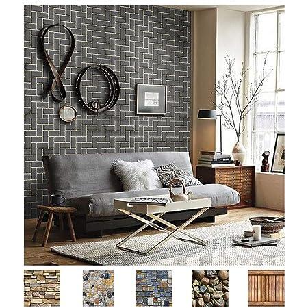 3D Black Shape A2082 Removable Wallpaper Self Adhesive Wallpaper Extra Large Peel /& Stick Wallpaper Wallpaper Mural AJ WALLPAPERS