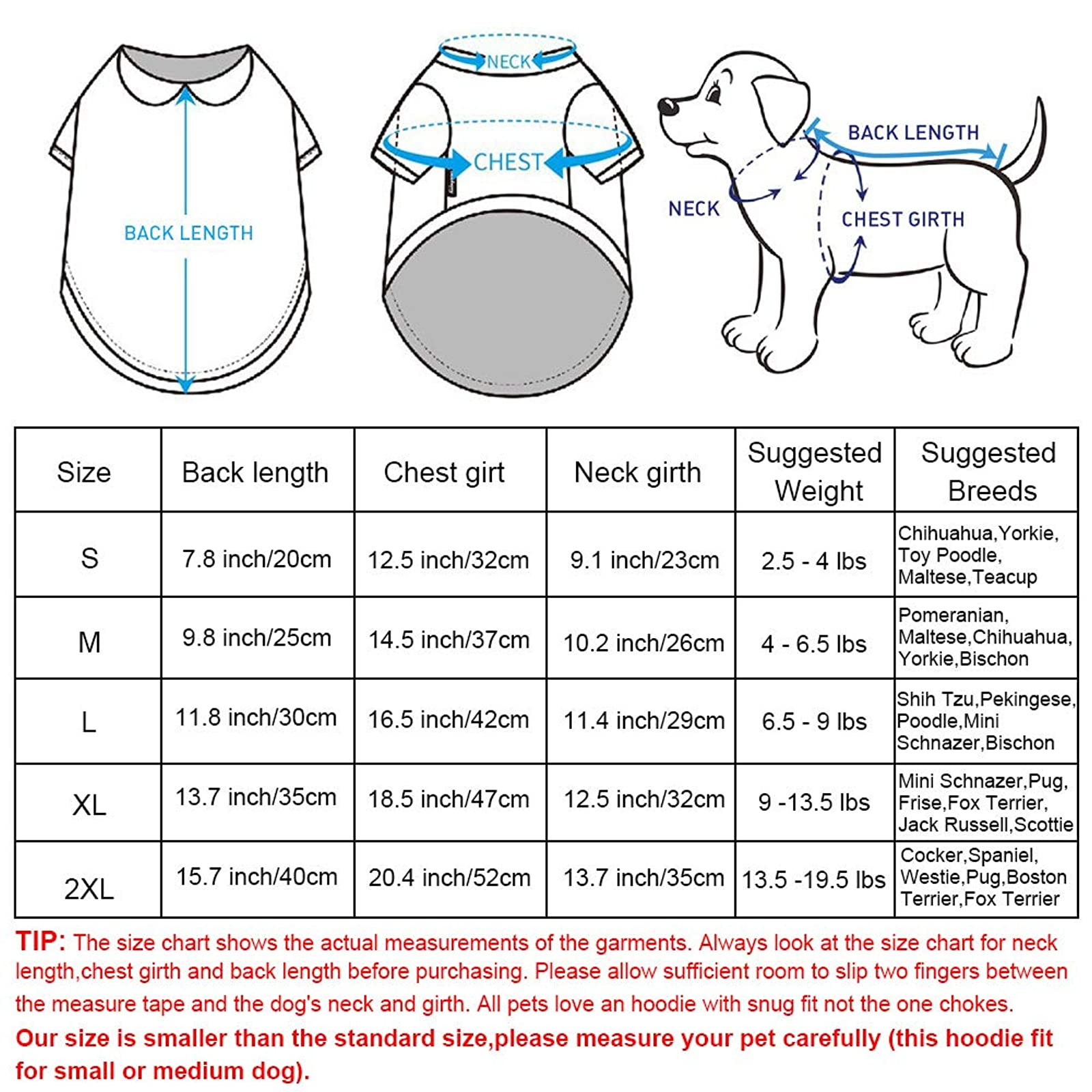 EastCities Dog ClothesSmall Dogs Puppy Pajamas OutfitGrey - 2