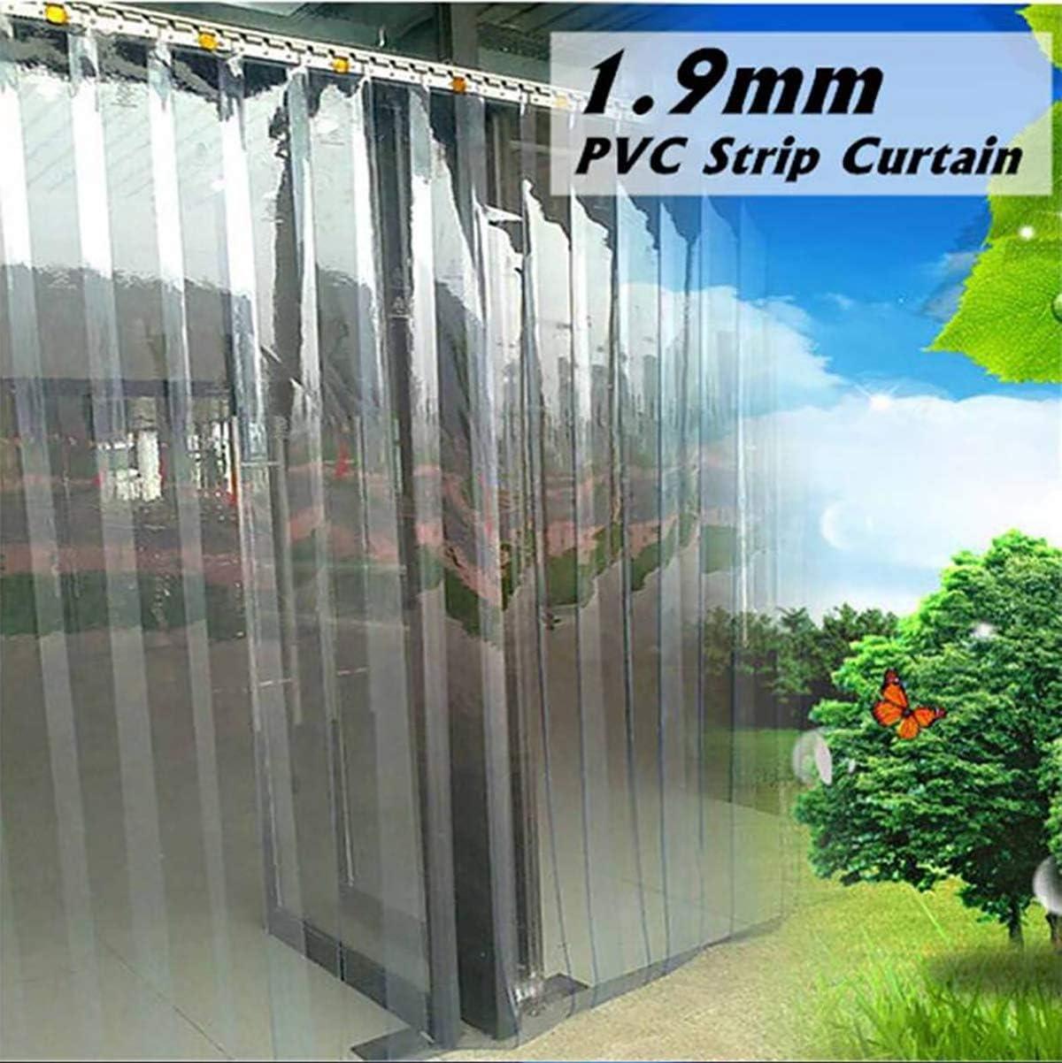 Gran franja de PVC cortina congelador habitación franja de puerta kit 200 * 70cm colgando carril cortinas a prueba de viento calor frío resistir congelador transparente habitación supermercado,1.3MM