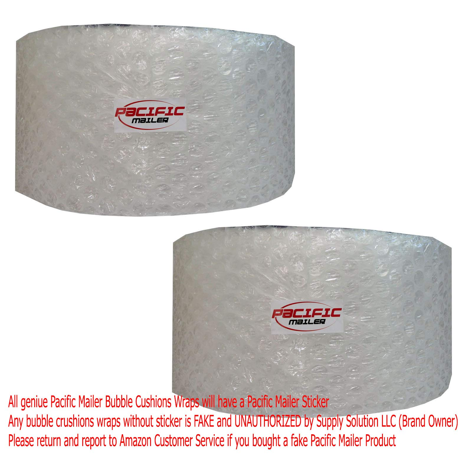 PacificMailer Bubble Cushioning Wrap Roll 12'' x 250' x 1/2'' Large, Perforated Every 12'' for Packaging, Shipping, Mailing by PacificMailer (Image #2)