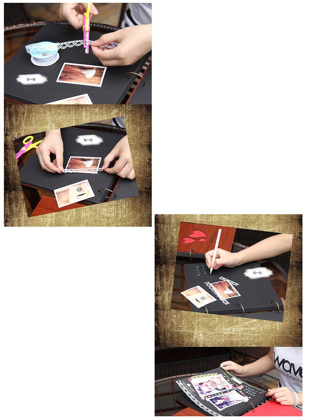 Album de Fotos de Cerradura de Fotos la contraseña DIY Álbum, Pasta Hecha a Mano Álbum, Libro de Registro de Crecimiento de bebé Pareja Regalo de San Valentín Fotos Turismo Amor (Tamaño : A) f71519