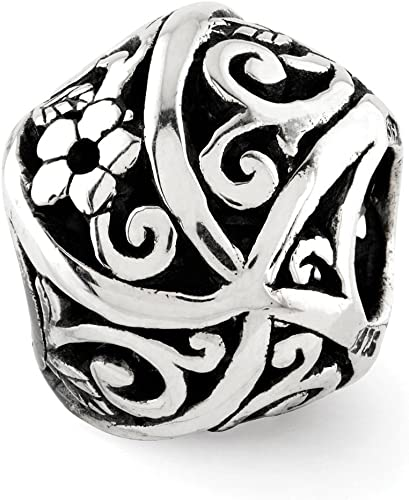 Black Bow Jewelry Sterling Silver X Bali Bead Charm