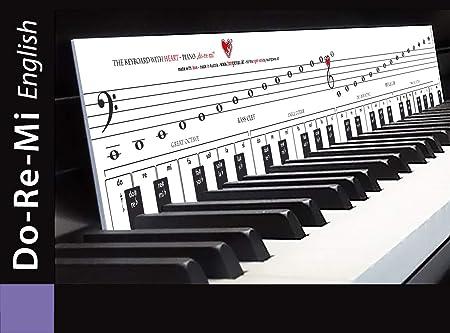 «Piano con corazón» DoReMi, para aprender a tocar el piano, con teclas/escuelas de piano, notas musicales, orientación de teclas, ayuda a aprender a ...