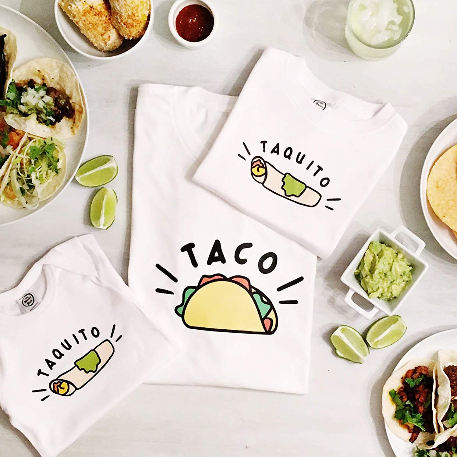 The Spunky Stork Taco /& Taquito Matching Baby Toddler T Shirts Each Sold Separately Siblings or Daddy /& Me