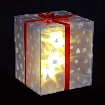 size 40 8178b 3d13f SPARKLES LED Battery Operated Christmas Light Up Ribbon Gift ...