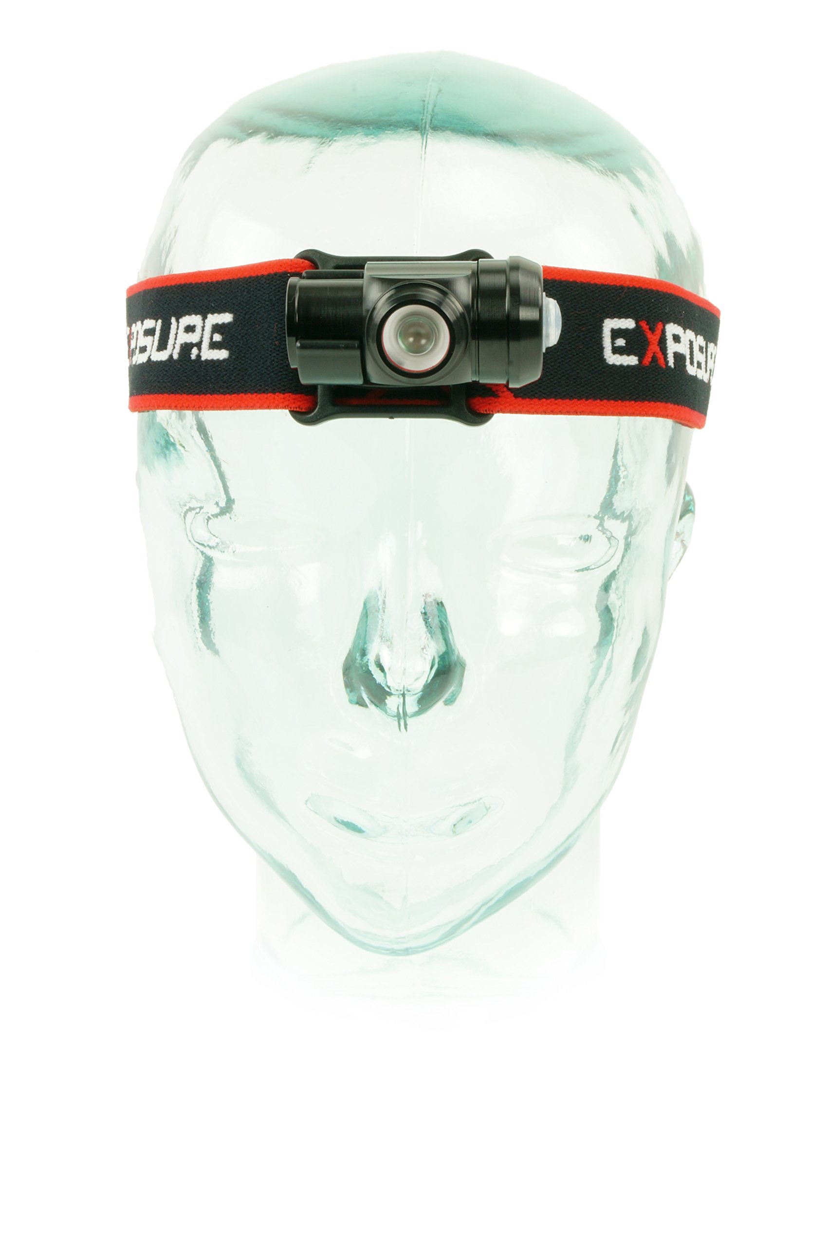 Exposure Lights R.A.W. PRO Edition 200 Lumen Red & White waterproof head Torch Made In Great Britain