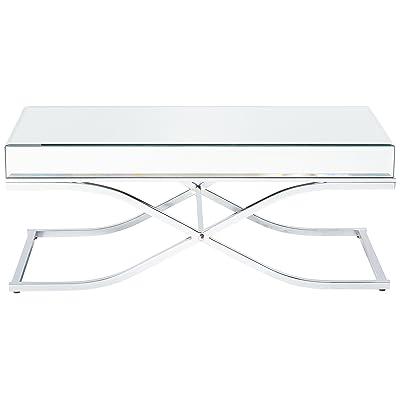 Amazoncom Nuevo Jasmine Square Marble Top Coffee Table In Gold And - Nuevo marble coffee table