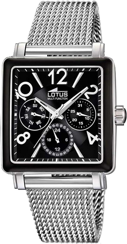 Lotus Watches Reloj para Mujer Analógico de Cuarzo con Brazalete de Acero Inoxidable 15740/B