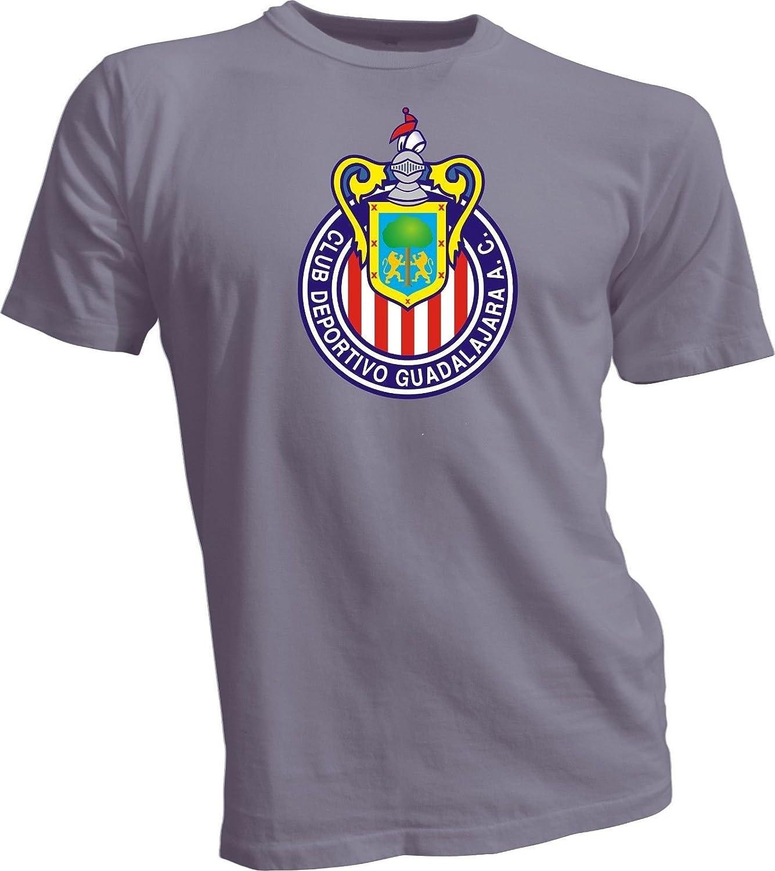 Club Deportivo Guadalajara ChivasメキシコFMFサッカーグレーサイズTシャツCamiseta B010UMTXGY