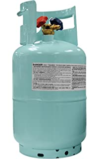 Mastercool (67010) Blue DOT R134A Recovery Refrigerant Cylinder with Float Switch and 1/
