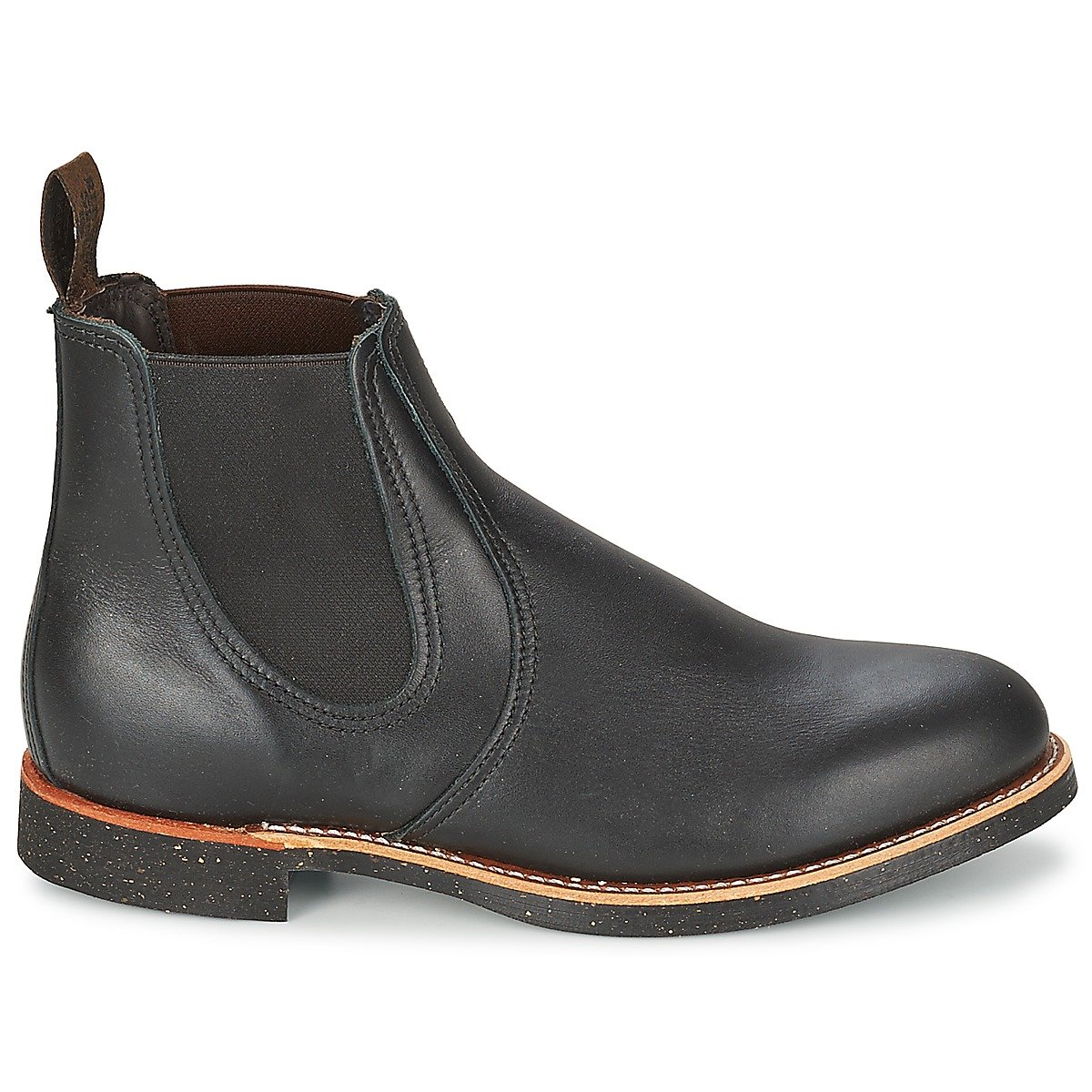 Rot Wing Wing Wing Mens Rancher Chelsea 8200 schwarz Leather Stiefel 41 EU 28b879