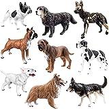 (Dogs) - Toymany 9PCS Dog Figurines, High Emulational Detailed Dog Toy Figures Set