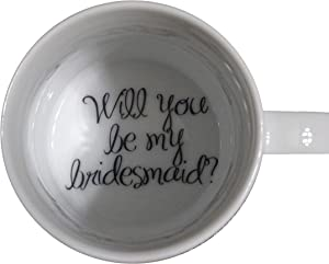 topmug Will You Be My Bridesmaid Coffee Mug, Bride Mug, Father, Bottom Mug, Hidden Message, Secret Message, surprize