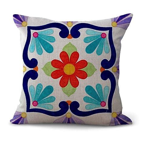 amazon com wholesalesarong mexican art flower design cushion cover rh amazon com