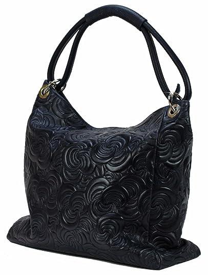 4d713f6cb4824e BZNA Bag Kira Dunkelblau Blau Italy Designer Damen Handtasche Ledertasche  Tasche Wildleder Prägung Shopper Neu: Amazon.de: Schuhe & Handtaschen