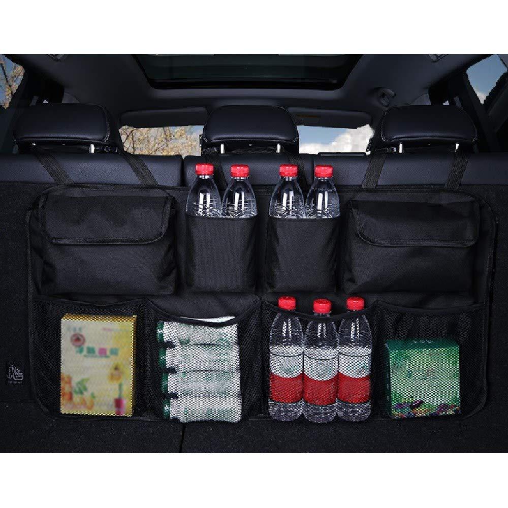 noir Ogquaton Organisateur de voiture de qualit/é sup/érieure sac de rangement universel filet de poche coffre arri/ère si/ège de rangement