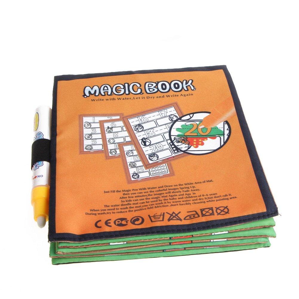 JAGENIE Kids Magic Paint Book con acqua disegno penna libro da colorare acqua pittura Board