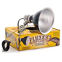 """Fluker's Clamp Lamp with Switch - 5.5"""", Black"""