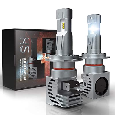 H7 LED Headlight Bulb, CAR ROVER 55W 10000Lumens Plug-N-Play Extremely Bright 6500K ZES Chips Conversion Kit: Automotive