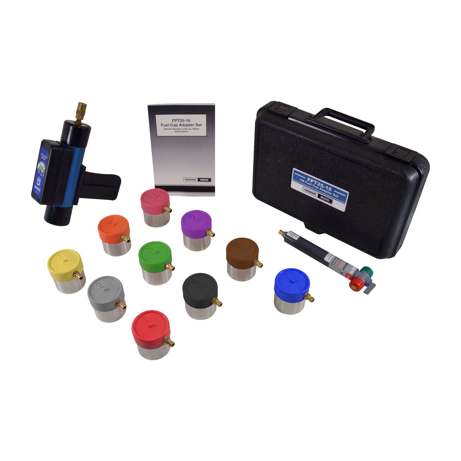 Waekon FPT2600EX1 Hand Held Fuel Cap Tester with Adapters (I/M), 1 Pack
