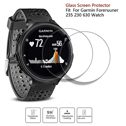 JIUJOJA for Garmin Forerunner 235 Charger 230 630 Charging Clip Sync Data Cable and 2Pcs Free HD Tempered Glass Screen Protector Replacement Charger ...