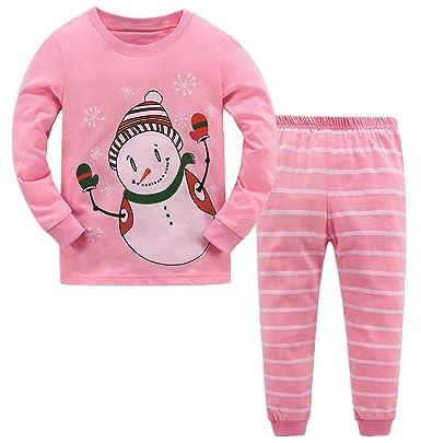 48b8a6bce BABSUE Baby Girls Christmas Pyjamas Set Kids Reindeer Costume Winter ...