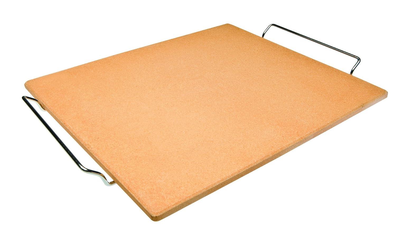 Ibili 784338Pizza Stone, Rectangular, 38 cm x 30 cm x 1 cm, Orange