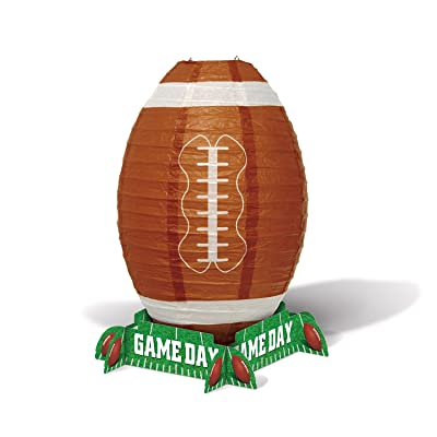 """Beistle Game Day Football Lantern Centerpiece, 11"""", Multicolor: Toys & Games"""