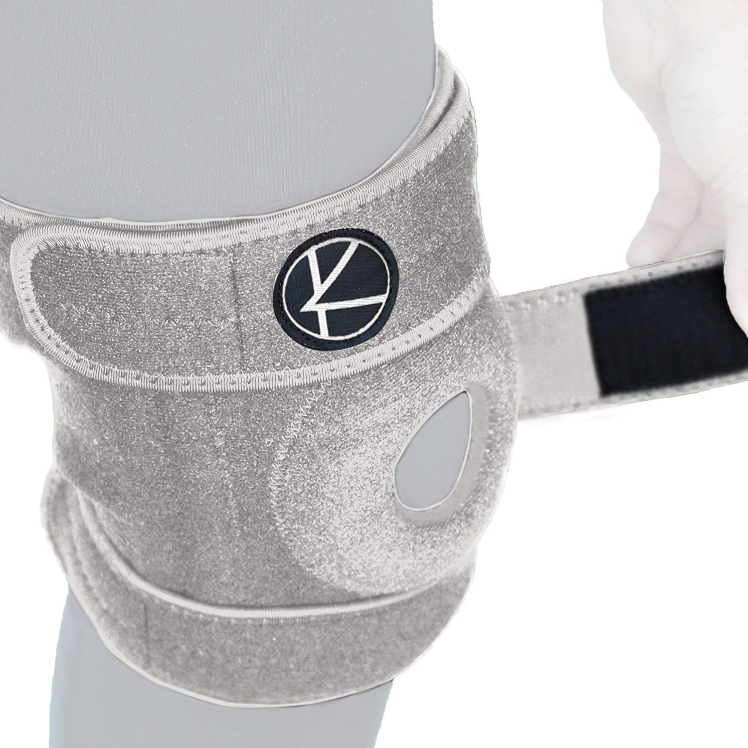 Adjustable Knee Brace Support Wrap Size 1 Gray by K A R M