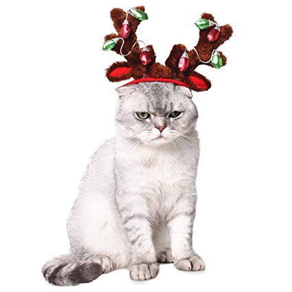 9ca52cd326cf6 BWOGUE Dog Reindeer Antlers Headband Cat Holiday Christmas Costume Outfits  Dog Hat Headwear