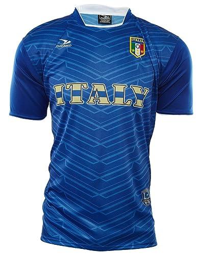 5f5d082eb5ef Amazon.com: Drako Authentic Wear Team Italy T-shirt Mens Style ...