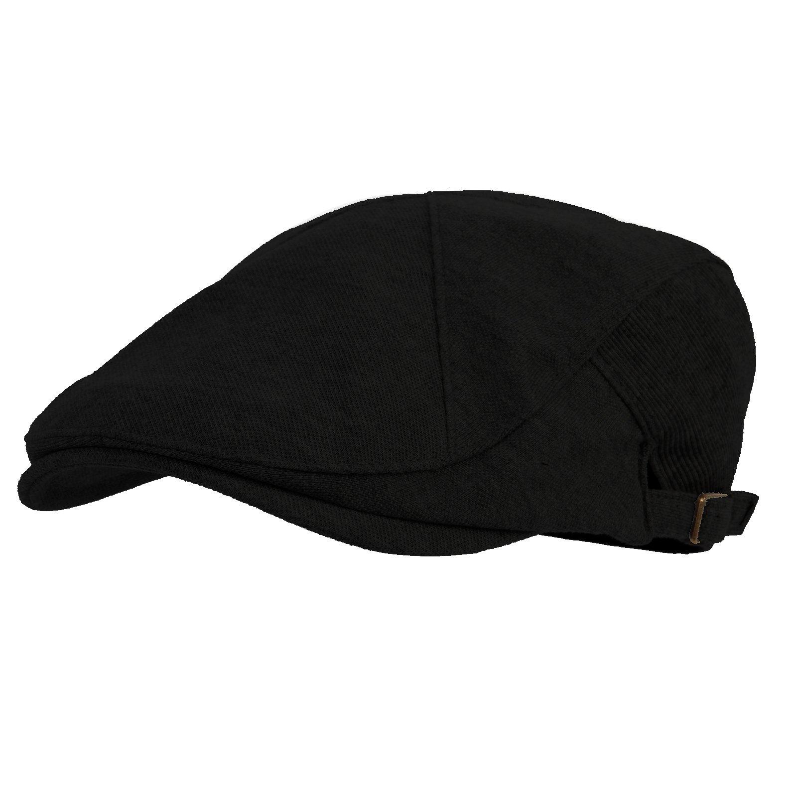 WITHMOONS Modern Cotton Real; Newsboy Hat Flat Cap AC3045 (Black)
